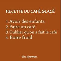 recette humoristique du café glacé