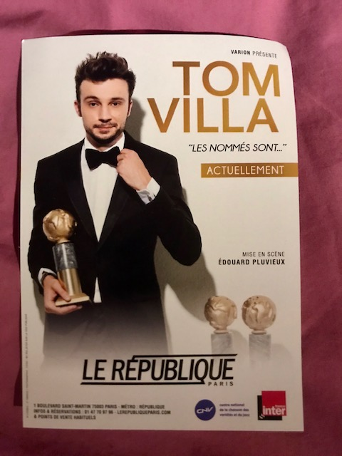 Tom Villa spectacle