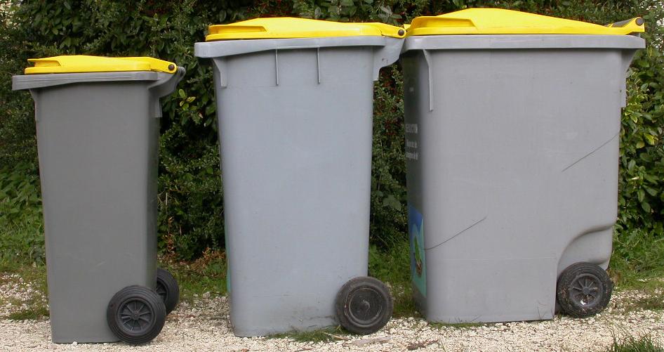 poubelles jaunes