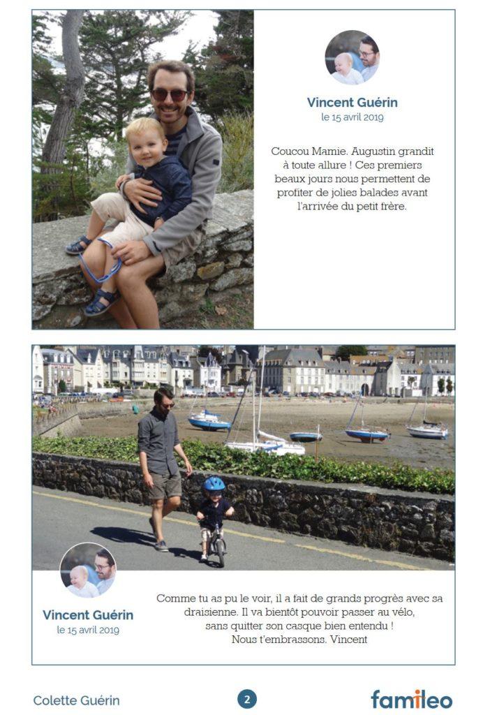 exemple de page gazette Famileo